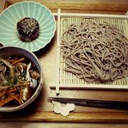 豚こまと根菜のつけ蕎麦☆晩ごはん