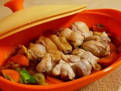 シリコンスチーマーで☆鶏肉と野菜の甘辛煮