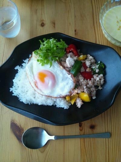 豆腐入りのガパオライス
