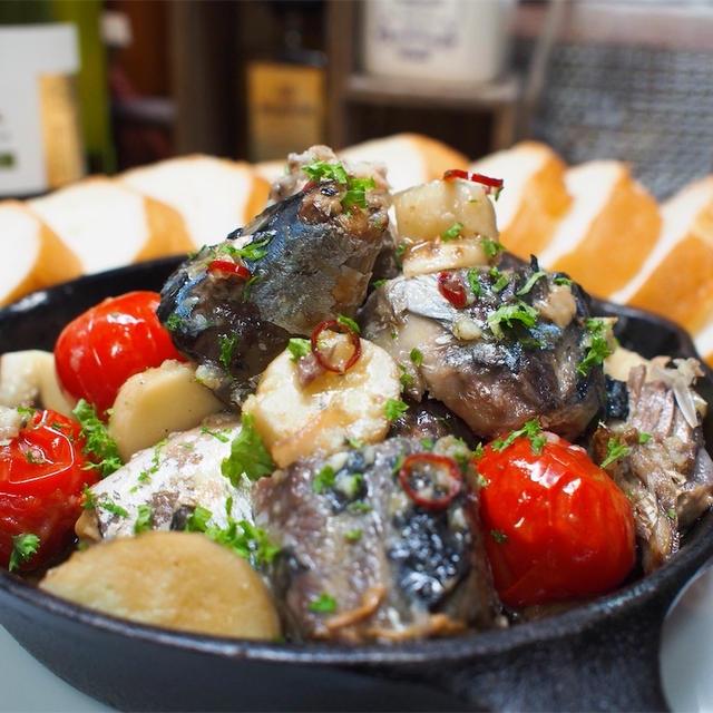 【レシピ】絶品!鯖缶とエリンギで簡単アヒージョ!