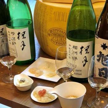 パルミジャーノ・レッジャーノと日本酒♪