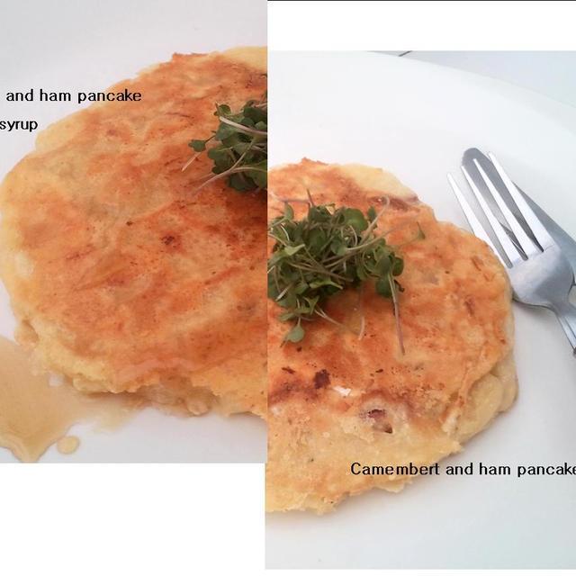 カマンベールとハムのパンケーキ、禁断の食べ方で