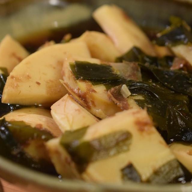 今日の春野菜は筍。筍とワカメの煮物|一汁一菜のススメ