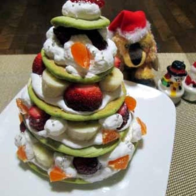 フルーツたっぷり☆パンケーキツリー