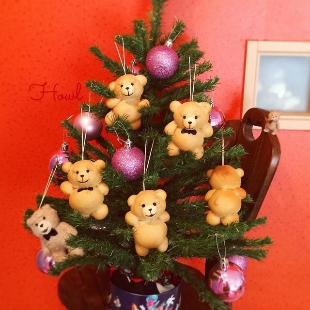 tedパンでクリスマスツリー♡オーナメント風