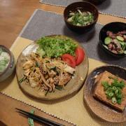 豚キムチ野菜炒めの晩ご飯 と ジキタリスの花2種♪