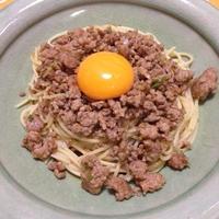 肉味噌パスタ