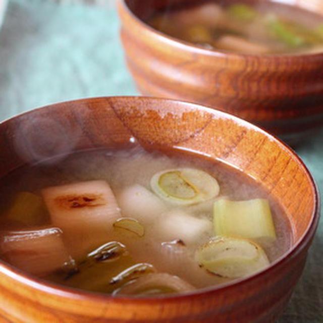 365日糖質オフレシピNo.21「焼きねぎの味噌汁」