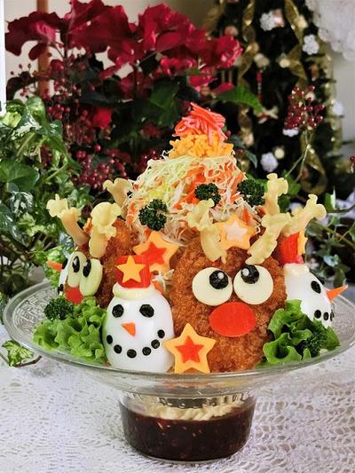 簡単クリスマスレシピ 1  ♪ かわいいサラダレシピを2つ ♪