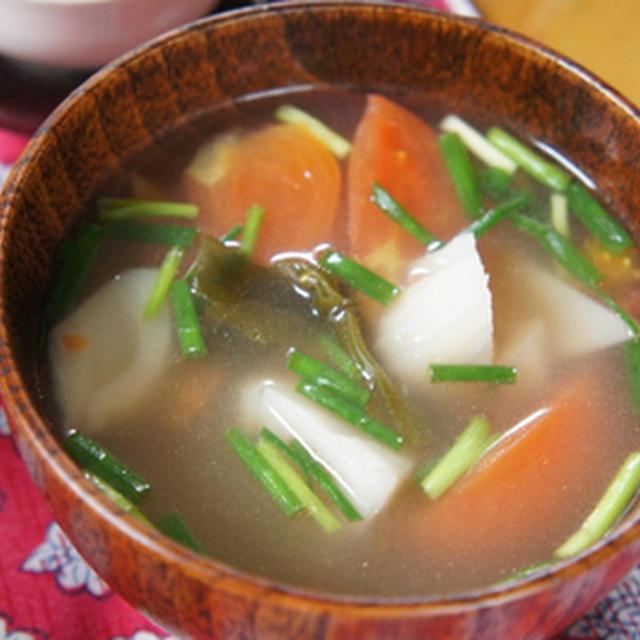 """風邪で咳がひどい私・・・""""れんこん、昆布、トマトのスープ""""で元気になろう!"""