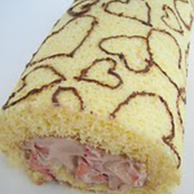 【第18位】ハート模様のロールケーキ