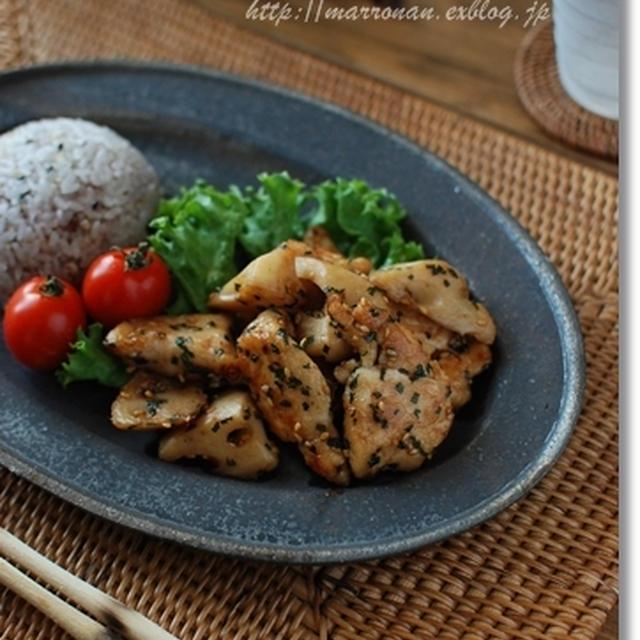 鶏肉とれんこんのエスニック炒め