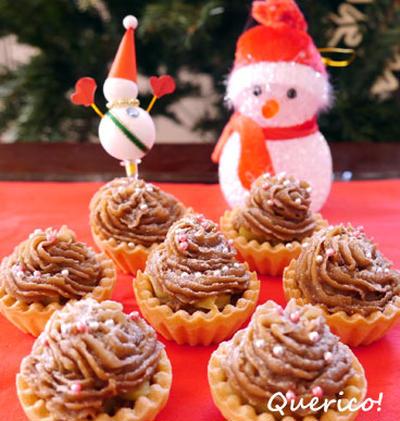 クリスマスに☆簡単!おさつモンブラン