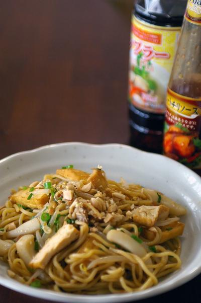 タイの屋台の味:パッタイ風で焼そば