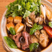 #626 牡蠣と牛肉のイタリア風赤味噌鍋