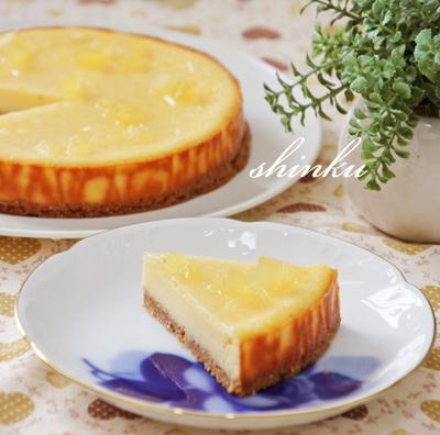生クリームなしで簡単おいしい♪ベイクドチーズケーキ