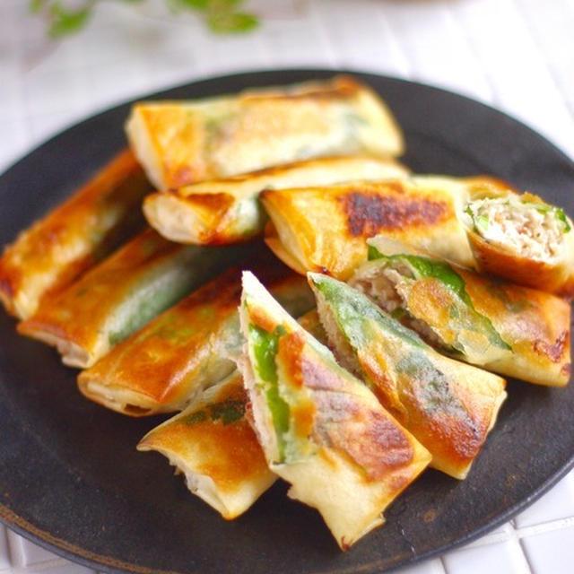 あの食材でジューシーをキープ♡鶏ひき肉のあっさり梅しそ春巻き!*京大生と多面体作り。