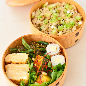 7月28日 水曜日 新生姜の炊き込みごはん&いんげんの海苔ごま和え