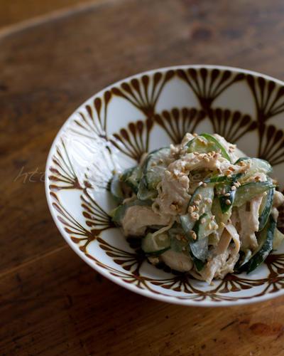 鶏ときゅうりのピリ辛サラダ 〜 醤油麹と柚子胡椒で