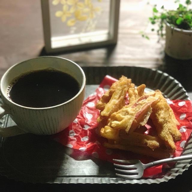 デザートにリンゴの天ぷら