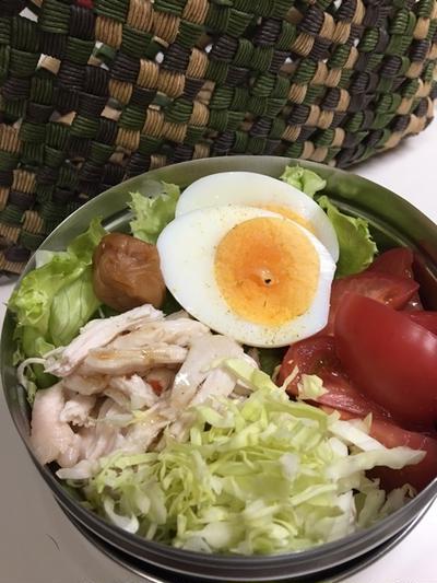 私のサラダごはん
