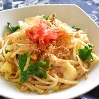 【ヤマキだし部】自家製だし醤油の焼きうどん。だしの旨みがうどんに絡んで野菜もおいしい。