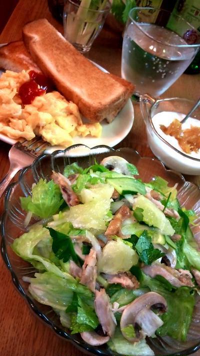 グレープフルーツ&ローズマリーチキンのサラダ
