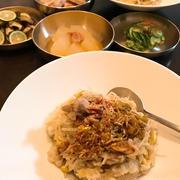 豆もやしと豚肉で栄養ごはん「コンナムルパプ」。