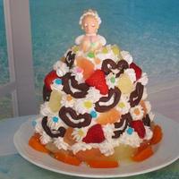 フルーツ&ホイップクリームたっぷり♡プリンセスショートケーキ(チョコ)♪