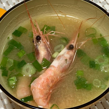【レシピ】エビの風味いっぱい♪甘海老のみそ汁