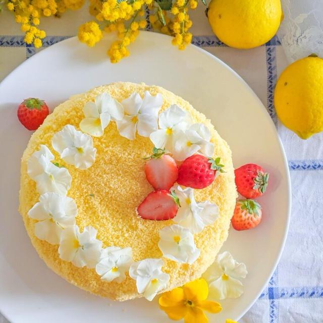 ミモザケーキ*レシピあり
