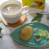 蜂蜜レモン入り抹茶ソイミルクティー♪