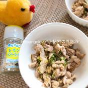 ネギとレモンペパーミックスの豚丼