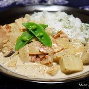 里芋とベーコンのマスタードクリーム煮〜パセリライス添え〜