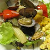あさりとカラフル野菜のハーブソテー