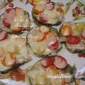米ナスとミニトマトのピザ風チーズ焼き