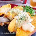 安納芋で!焼き芋にラクレットチーズ(動画レシピ)