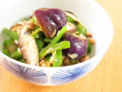 和総菜☆ナスと椎茸ピーマンごま油風味
