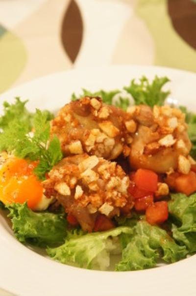 カリカリから揚げ丼のトマトたれ