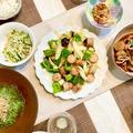 【献立まとめ】里芋とイカの煮っころがし~ベーコンソーセージと野菜のうま塩炒め