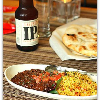 Black Lentil Curry and Lemon Rice