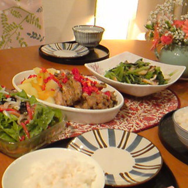 タンドリーチキンとお野菜おかず。