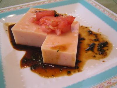 トマト豆腐の生姜みそだれソース