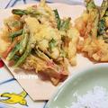 ほうれん草の根元の天ぷら