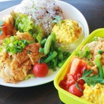 和風チキンピカタプレートとお弁当のレシピ