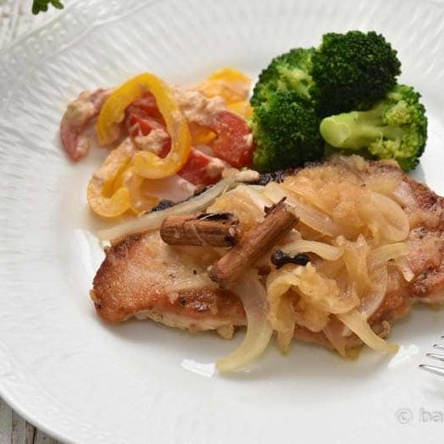 豚ロース肉のりんごとはちみつのシナモンソテー煮|スパイスアンバサダー就任