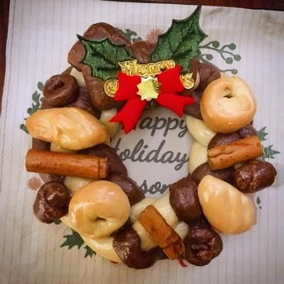 パンのクリスマスリース