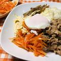 献立17-3・ビビンバ風豚焼肉と野菜マリネ丼