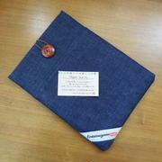 倉敷市児島製デニムのタブレットケース♪