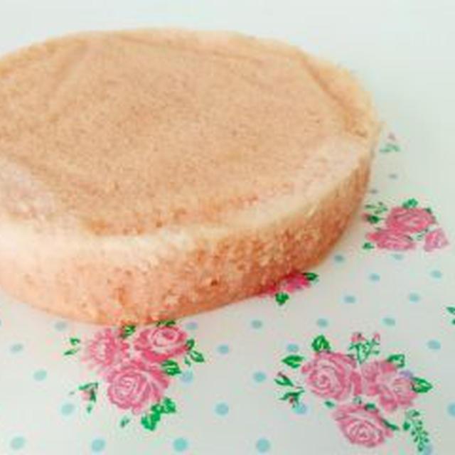 小麦粉アレルギー対応犬用ケーキレシピ【米粉のスポンジケーキ(紅麹)】